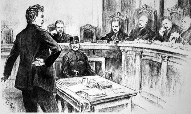 Friedrich Adler vor dem Ausnahmegericht.