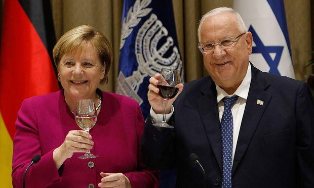 Merkel bei Rivlin in Israel