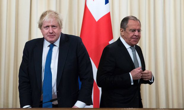 Boris Johnson mit Sergej Lawrow.