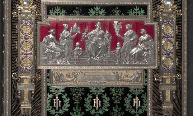 Hervorragende Persönlichkeiten, bedeutende Wirtschaftstreibende, aber auch Kommunen huldigten dem jeweiligen Kaiser mit aufwendig gestalteten Tafeln.
