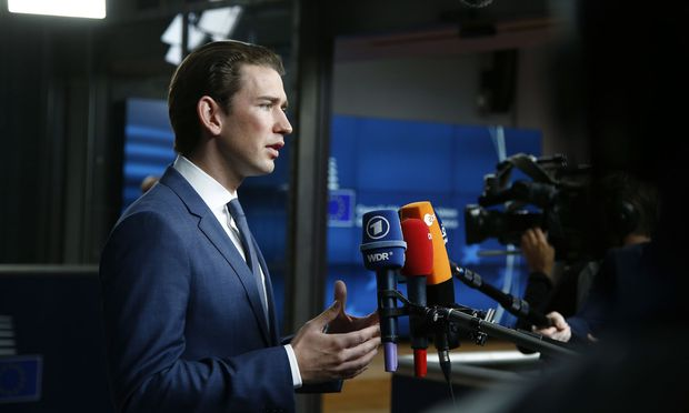 Außenminister Sebastian Kurz (ÖVP) in Brüssel