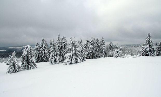 17 01 2016 GES RR GES HEU Wintereinbruch in NRW Nordrhein Westfalen auf dem Kahlen Asten in