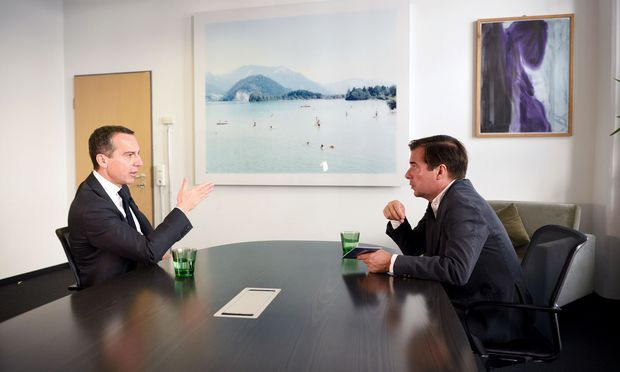Bundeskanzler Christian Kern im Gespräch mit Rainer Nowak.