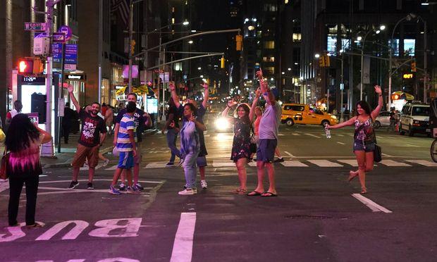 Die New Yorker nahmen den Stromausfall gelassen