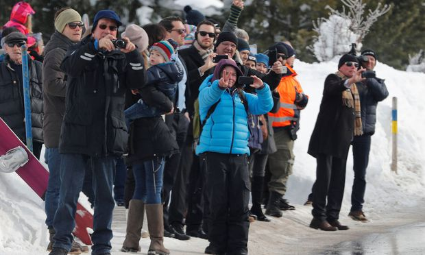 Trump trifft auf dem Weltwirtschaftsforum in Davos ein