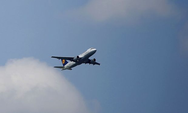 A Lufthansa aircraft takes off from the Fraport airport in Frankfurt