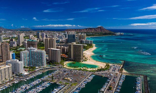 Die Metropolregion Honolulu, Hauptstadt Hawaiis, zählt fast eine Million Einwohner.