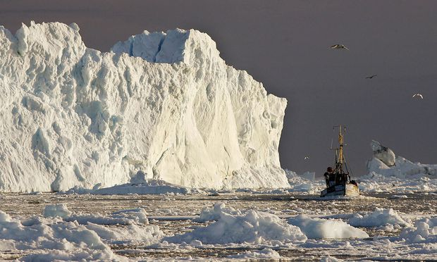 Archivbild: Eisberg an der Küste Grönlands.