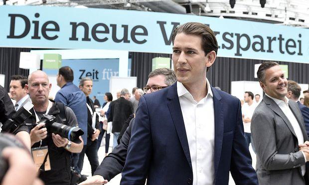 Die ÖVP hat rund um den Obmannwechsel am meisten geworben. / Bild: APA/HANS PUNZ