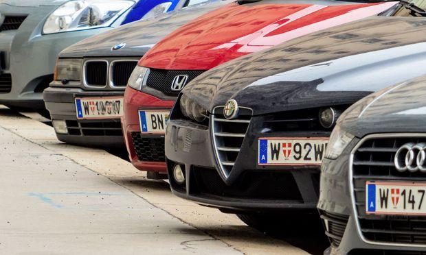 Autos mit Wiener Kennzeichen