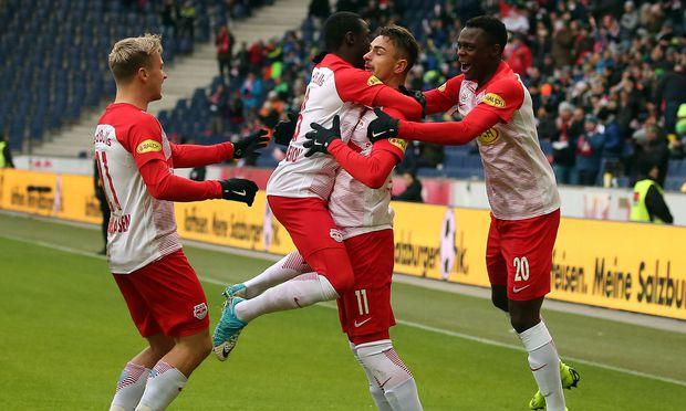 Salzburgs Fußballer und die Vorfreude auf Spiele im höchsten Klubbewerb Europas.