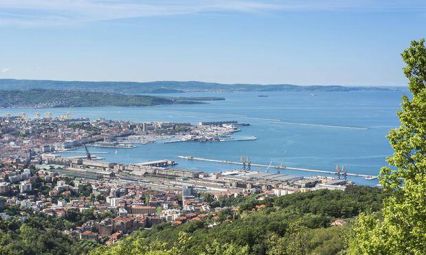 Panorama über Triest.