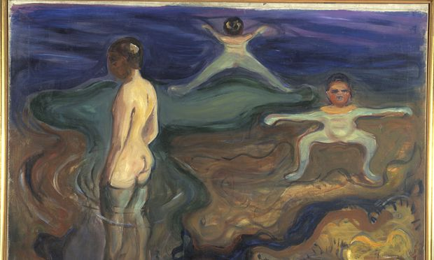 """Die """"Badenden Jungen"""" entstanden in Edvard Munchs intensivster Schaffenszeit, 1897/98."""