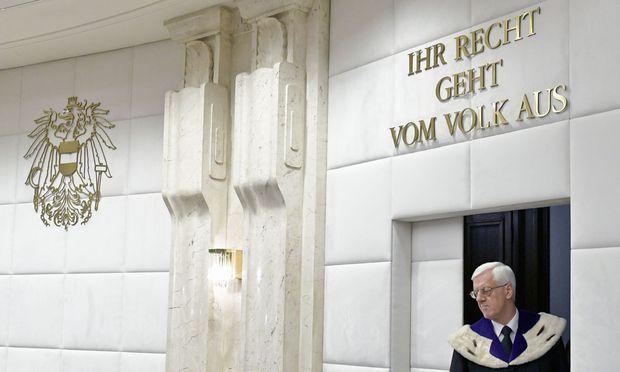 Gerhart Holzinger, Präsident des Verfassungsgerichtshofs.