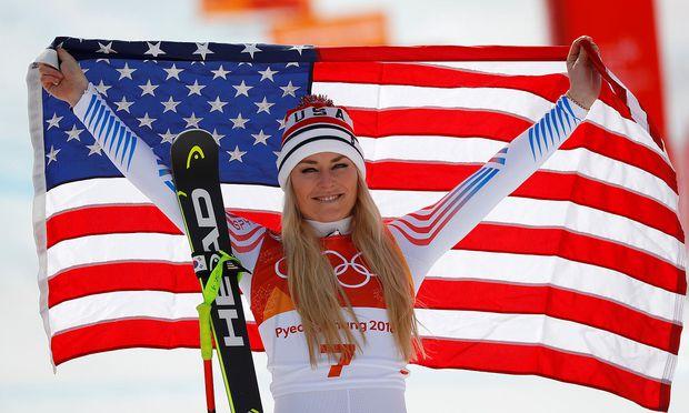 Bei den Winterspielen in Pyeongchang fuhr die Amerikanerin zu Bronze.