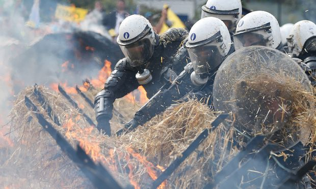 BELGIUM EU AGRICULTURE FARMER PROTEST
