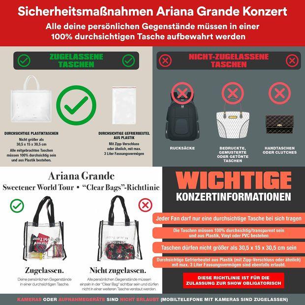 Die Info mit den Sicherheitshinweisen für das Konzert in der Wiener Stadthalle.