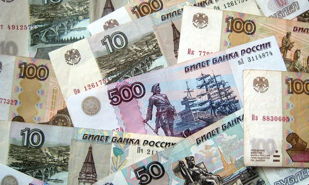 Russische Rubel