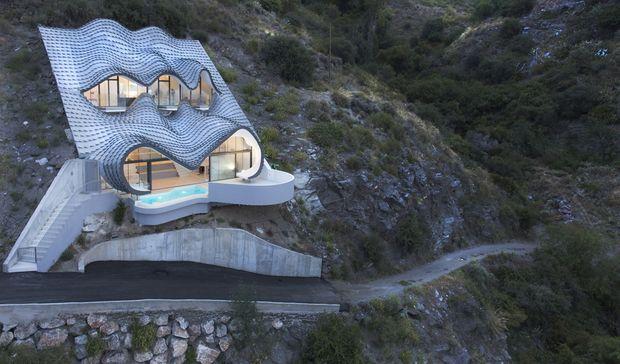 futuristisch das haus an der klippe. Black Bedroom Furniture Sets. Home Design Ideas