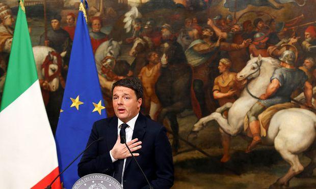Der italienische Premier Matteo Renzi
