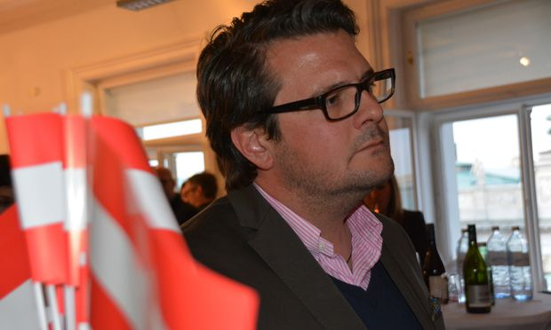 Wendelin Mölzer am Tag der Bundespräsidentenwahl im FPÖ-Zentrum.
