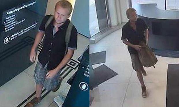 Von der Polizei veröffentlichte Fahndungsbilder des Verdächtigen