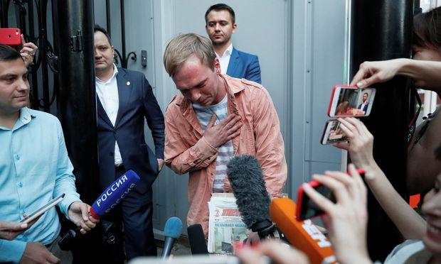 Golunow nach seiner Freilassung