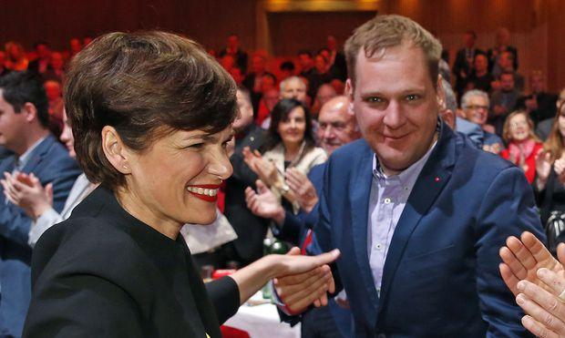 Kucher mit SPÖ-Chefin Pamela Rendi-Wagner