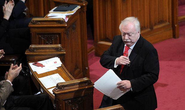Archivbild vom Dezember 2012: Bürgermeister Häupl im Wiener Gemeinderat