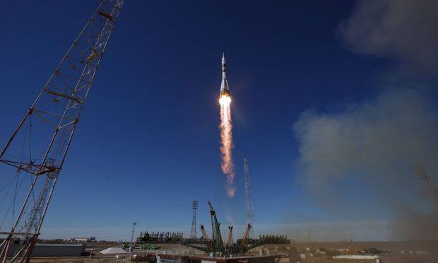 Der Start der Sojus-Rakete