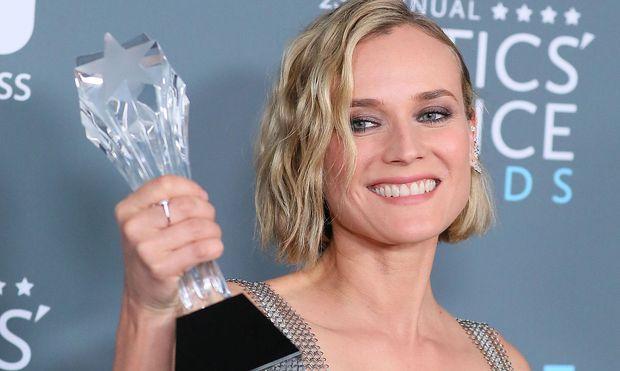 Schauspielerin Diane Kruger nahm stellvertretend für Fatih Akin die Auszeichnung an.
