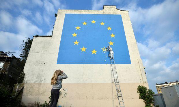 Banksy-Wandgemälde im britischen Dover