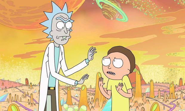 Nichts für Kinder: Der abgefeimte Wissenschaftler Rick und sein kümmerlicher Enkel Morty.