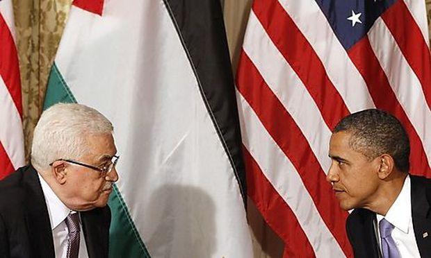 U.S. President Barack Obama meets Palestinian President Mahmoud Abbas in New York