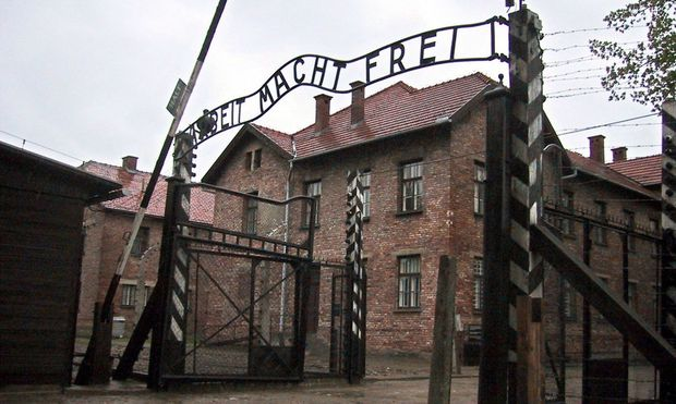 FILE POLAND AUSCHWITZ SIGN ROBBERY TRIAL