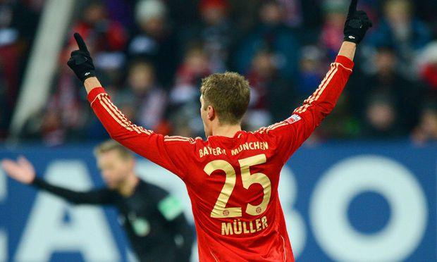 Fussball Bayern Muenchen siegt