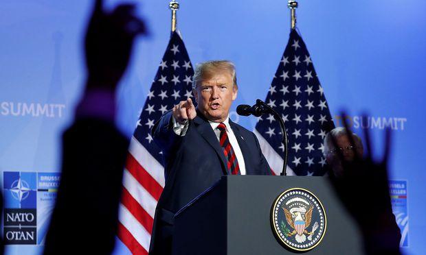 Trump ist höchst unzufrieden mit der Nato, meint er.