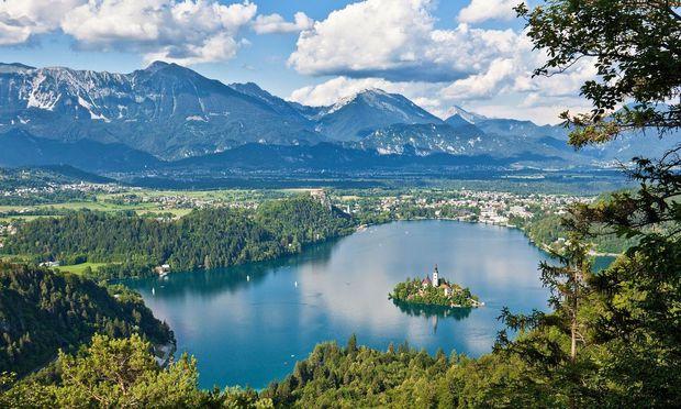 Herumschippern in Bled.