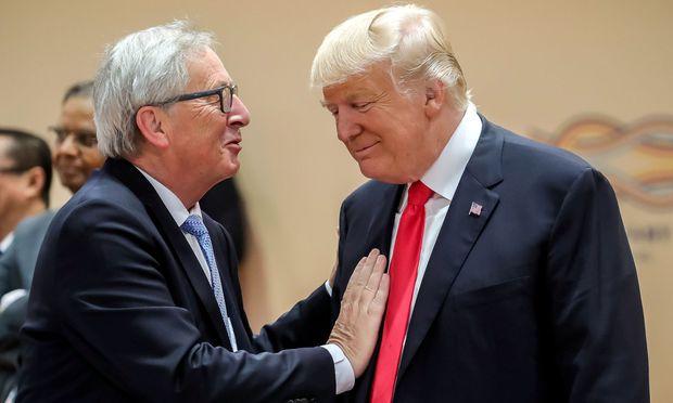 Die gute Stimmung zwischen Juncker und Trump, wie hier am G-20-Gipfel in Hamburg, scheint vorbei.