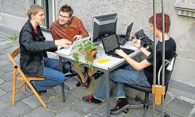 Die Gründer 2007: Christopher Clay, Esad Hajdarevic und Florian Hufsky (v. l.).