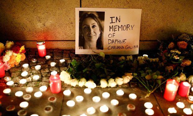 Gedenken an Daphne Caruana Galizia