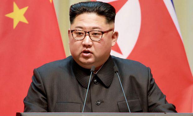 Kim Jong Un bei einem Besuch in China vor wenigen Tagen.