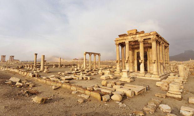 Palmyra Juni 2016, nach den Zerstörungen durch den IS.