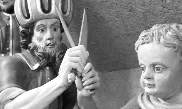 Original im Depot: Duplikat einer Anderl-Figurengruppe im Augustinermuseum Rattenberg.