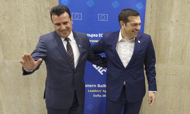 Zoran Zaev und Alexis Tsipras