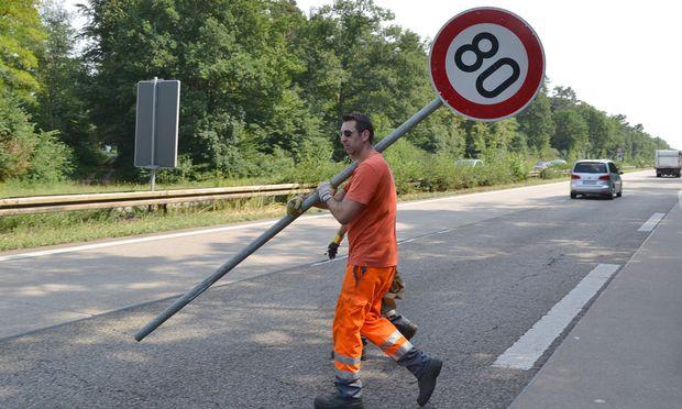 Ein Tempolimit (in Deutschland) auf dem Weg zur Kundmachung.