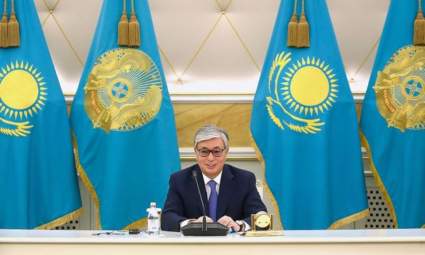 Kasachstan Kassym Schomart Tokajew Pressekonferenz NUR SULTAN KAZAKHSTAN JUNE 10 2019 Kazakhst