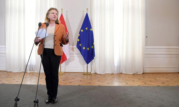 Die Distanz zu Harald Vilimsky wird Außenministerin Kneissl in der FPÖ übel genommen.