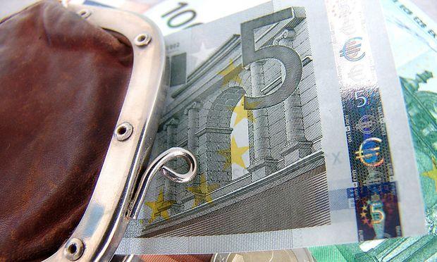 Geldboerse mit Euroscheinen