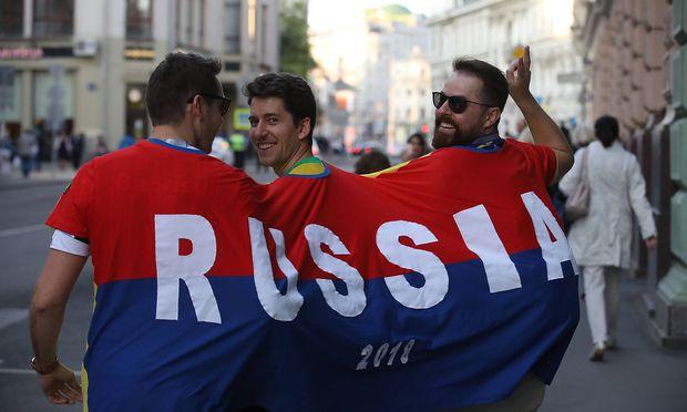 Fans in Moskau